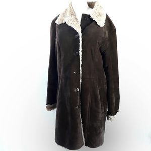 Wilson's Leather | Long Brown Suede Coat size L